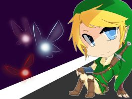 Link and Fairies by Byakko1