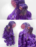 Purple Octopus Fascinator by deeed