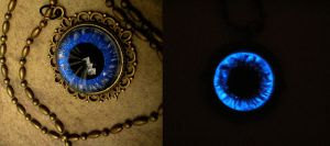 Blue Dream - Round Pupil All Seeing Eye Pendant by LadyPirotessa