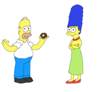 Homer and Marge by kitty55501