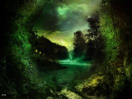 Green night by t1na