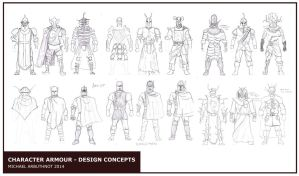 Armour Concept Designs by Jesterman