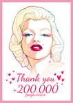 THANK YOU 200K pageviews by SoniaMatas