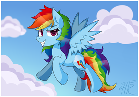 The Mare with a Rainbow Mane by wildberry-poptart