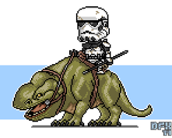 Dewback trooper by DanOcean