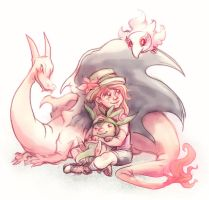 Girl With Pokemon by Busterella