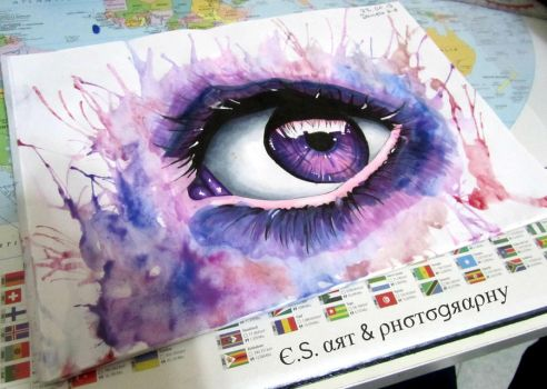 Purple Eye // Miriam Galassi Art by EraOcean