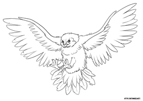 Owl Line Art by Greykitty