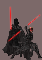 -Darth_Mau_Vader_SpeedPaint- by MercedesDesigns