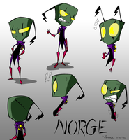 Norge sketches from Zerna by Crow1992