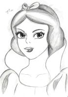 Fanart Snow white Disney sketch by Visjel