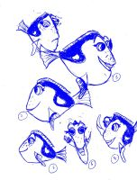 Dory sketches by PriPePoi