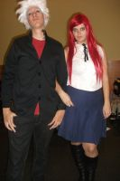 Erza and Elfman school outfit xD by claudia1542