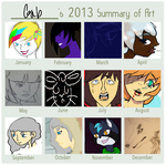 2013 Art Summary by sarnekichi