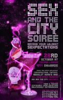 Sex and the City Party Flyer by Husni077