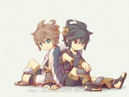 Pit and Dark Pit by doublejoker00