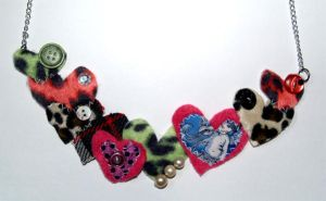 patchwork heart necklace by prettyboyswearpink