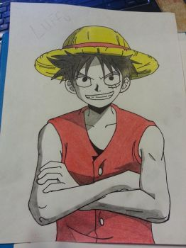 luffy from one piece by ColorCat1
