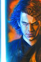 Star Wars portraits: Anakin by vividfury