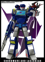 soundwave and laserbeak by mannlich-violet