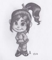 Vanellope Freehand by WyeZee