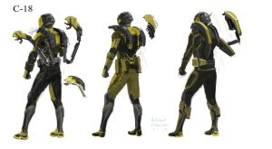 Rough sketches for Yellow-Jacket by Ubermonster