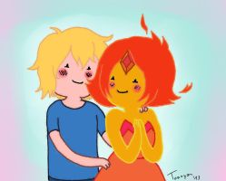 Adventure Time - Baby Finn and Flame Princess by Rainidog ...