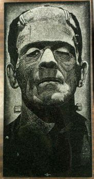 The Monster- granite engraving by itva