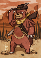 Red Dead Ursaring by ZestyDoesThings