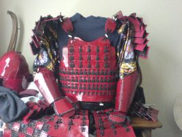 Red Samurai Armour 1 by Tulloran