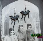 BAT CHAIN EARRINGS by TocsinDesigns