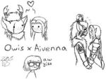Owis x Aivenna by metaknightgirl13