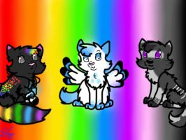 AT- Rainbow of friends by InvaderSpotty