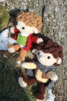 More Frodo and Bilbo by MilesofCrochet