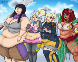 Girls of Glory by kawaiidebu