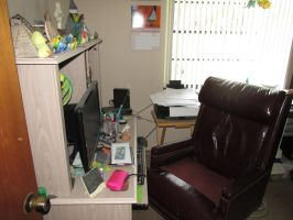 My Dr Claw chair and desk by Sorath-Rising