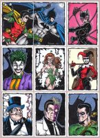 Batman Sketch Cards by tonyperna