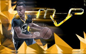 Stephen Curry MVP Poster by HZ-Designs