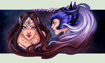 DOTA 2 -  Luna and Mirana by mortinfamiART