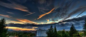 Waiblingen Rooftop Sunset HDR by Creative--Dragon