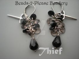 Thief Guild Wars 2 Inspired Earrings by beadclass