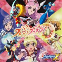 Fresh Precure and Megaman X by isaacyeap