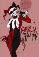 Creepy Harley Quinn by seannethecloud
