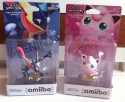 Amiibos jigglypuff and greninja FOR SALE by WolfPink