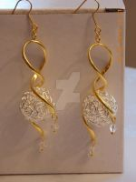 Gold- and silver-plated earrings by Quested-Creations