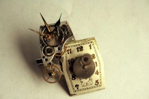 Reconstructed Watch Pin II by GomoDucky