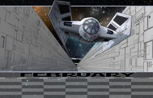 Chase on the Death Star by 66lightning