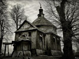 -wooden orthodox church by Haszczu