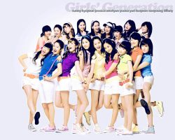 SNSD wallpaper 5. by NiiaChaan
