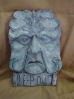 Face Wall Plaque-Keep Out by BluBeagle